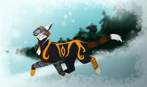 Copperpaw .Commission. by CHAR-C0AL