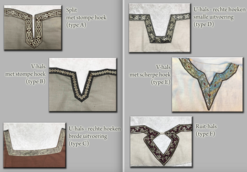 VIKING TUNIC COLLAR TYPES by Alise-Art