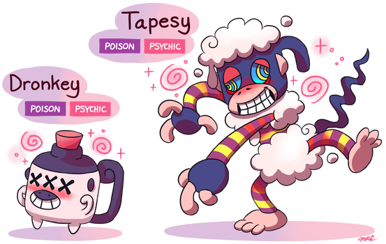 FAKEMON: Dronkey, Tapesy by Master-Rainbow