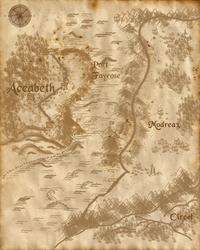 Map of the Realm of Aceabeth by Emmalena