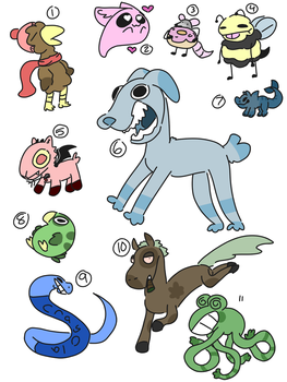 Batch of doodle adopts (open!) by OtterTown