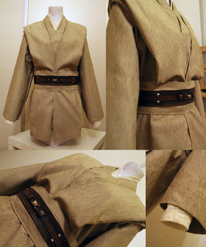 Obi-Wan Kenobi costume progress (tunics, belt) by kisusie