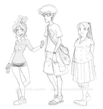 3 dudes, 2 of which are ladies by falingard