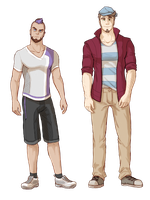 Updated Designs - Ben and Aster by TooterDoodles