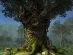 Fantasy forest background 3 by indigodeep