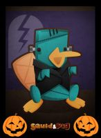 Art Jam: Perry the Platynstein by SquidPig