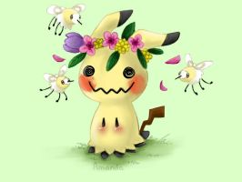 Flower Crown Mimikyu | Contest Entry by AmandaMandaPanda