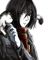 Mikasa and the Cat by kisechu