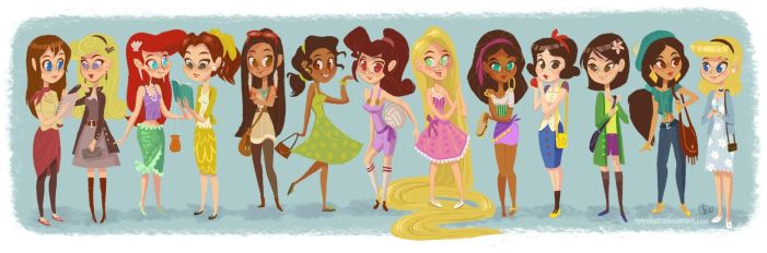 modern disney girls by tinysnail