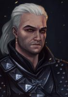 Geralt of Rivia by Anastasia-berry