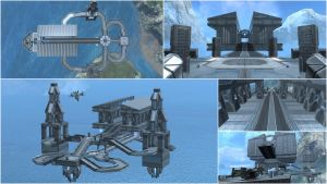 Halo: Reach Map - 'Parthenon' by WhiteRaven30