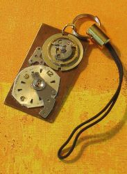 Steampunk Cell Phone Charm by cjgrand
