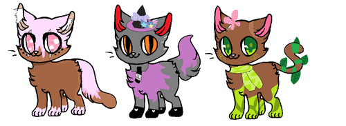Cheap Bad Adoptables c: 3/3 OPEN OTA by Cyber-Kitty101