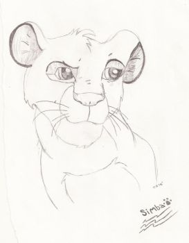 Simba Sketch by artcat15