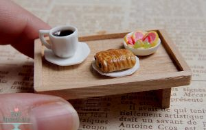 1:12 Breakfast Tray by PepperTreeArt