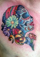 Day of Dead lady head by Ogra-the-Gob