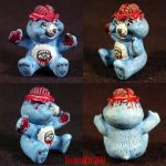 Killer Care Bear Brainy Bear1 by Undead-Art