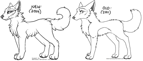 Free Wolf Lineart by Hohtis