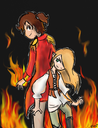 PyroBarbarian and HeartFire by Elwensa