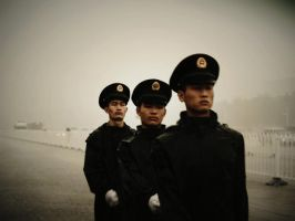 soldiers in tiananmen by pickerel