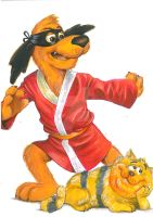 Hong Kong Phooey and Spot by Hognatius
