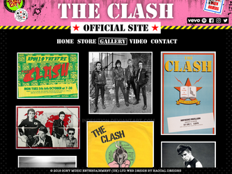 The Clash - Official Site by indesition