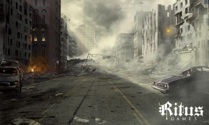 Destroyed City, streetview - Ritus by Kingstantin