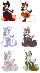 ~Adoptables #16 two tails~ (CLOSED) by Jadiecuteart