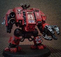 Blood angels dreadnaught with lascannon by Naarok0fKor
