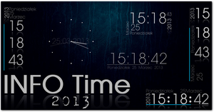 INFO_TIME Rainmeter clock,calendar by Fajnalaska