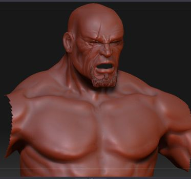 Kratos WIP by renatothally