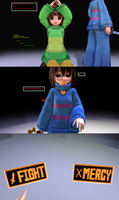 [MMDxUndertale]FIGHT or MERCY? (Page 1) by MephistaTheDark