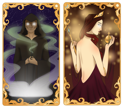Tarot Cards: The Magician and The Empress by JETFPLOVE
