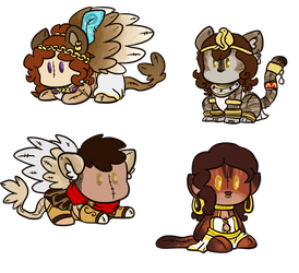COMM: batch of plushies by LeniProduction