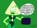 Peridot Discovers Memes by TheAntTony