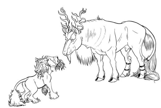 Inktober 1st - Babe and the Bull by jouroo