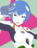 Rei Ayanami by HueTwo