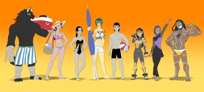 Entervoid - Beach Party Outfits by pyrasterran
