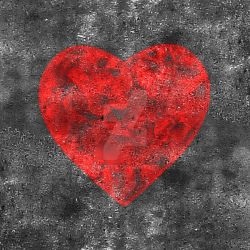 Heart Shape Grungy Background by danfleites