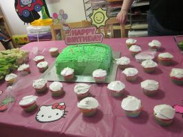 Hello Kitty Cake by Ayjah