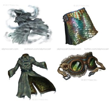 Pathfinder - Blood of the Sea Items by KaiserFlames