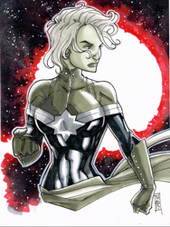 Avenger A Day No 4: Captain Marvel by Hodges-Art
