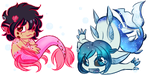 MerKid and Mer-Noah stickers by ProjectHalfbreed