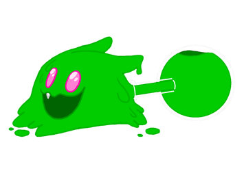 Goopy the Shapeshifting Slime || Dr Crafty OC by DoubleBellXY