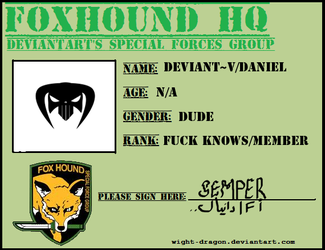 Foxhound member ID by V4VoDKa