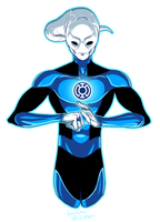 Blue Lantern Saint Walker by LucianoVecchio