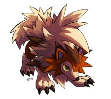 Dusk form Lycanroc by nightsanghaw