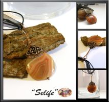 Selife- wire wrapped pendant by mea00