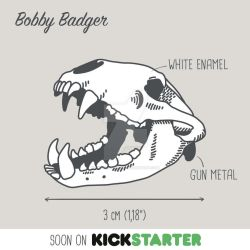 Bobby Badger Enamel Pin project by saraquarelle