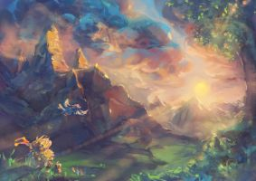 The Valley of Memories - Speedpainting II by Fany001